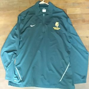 Nike mens large Dri-Fit running pullover zip up